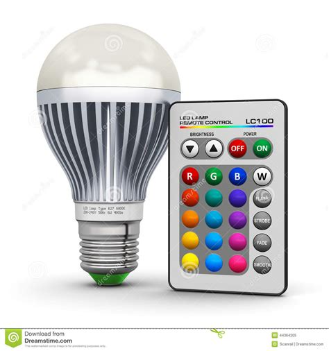 Remote Energy Saving L multicolor led l with wireless remote stock illustration image 44364205