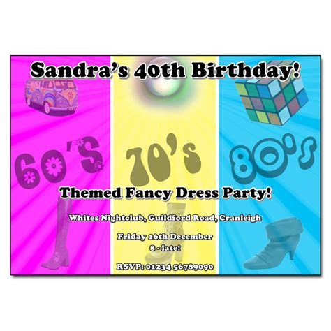 60s theme party guide party ideas home evite through the decades party invitation personalised party