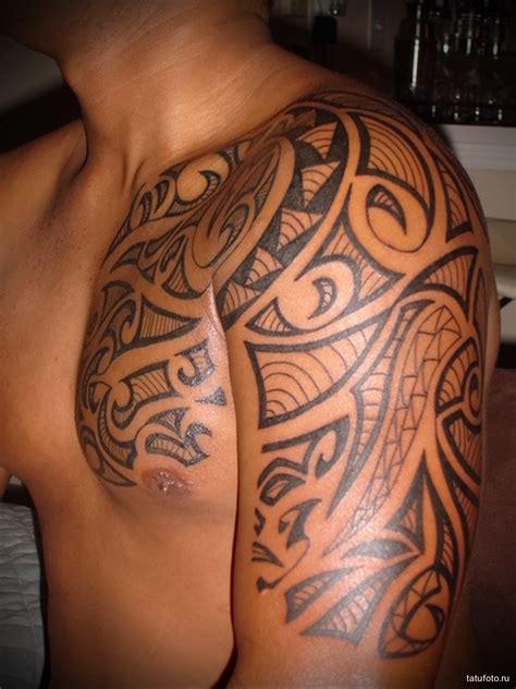 узоры в тату мужская татуировка на плече tatufoto com