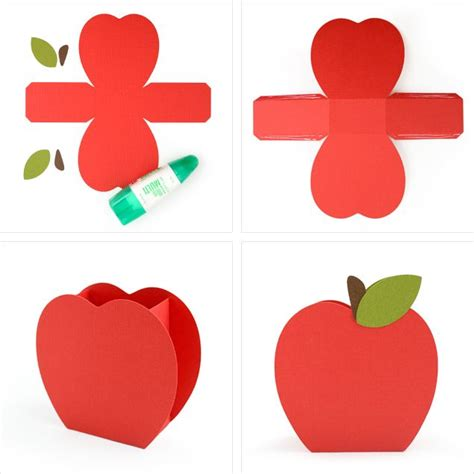 apple butter card template svg cut files and tutorial for school themed boxes and