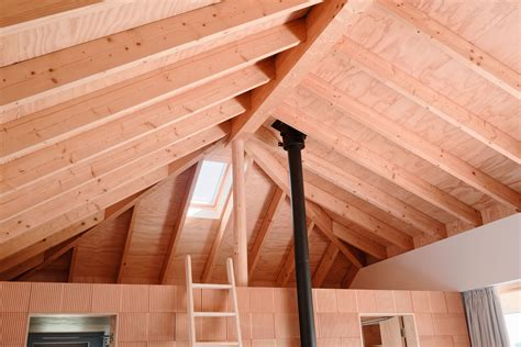 simple house design with attic sqm modern simple house design made of wood with steel pipes no ceiling attic room