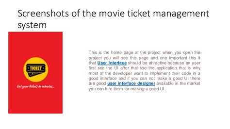 design online movie ticket system online movie ticket booking android project for final year ppt