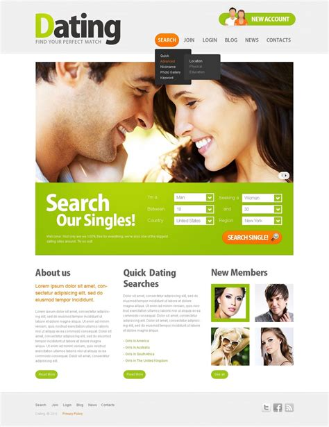 dating site template free dating website template 36120