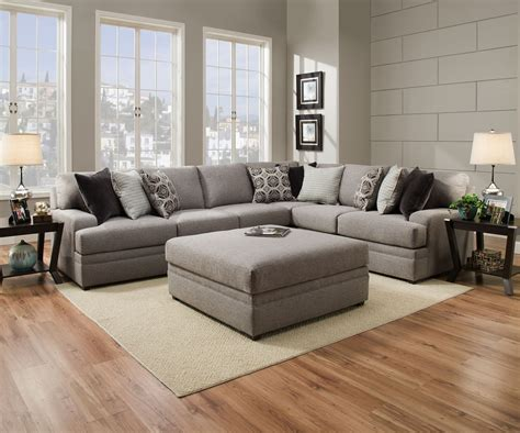 simmons beautyrest 8561 pocket coil grey sectional sofa