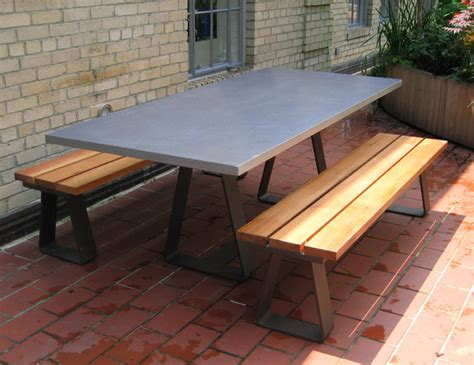 Modern Patio Table Custom Contemporary Outdoor Table With Custom Steel Base Contemporary Patio New York By