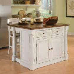 Island Kitchen Stools by Home Styles Monarch 3 Pc Kitchen Island Amp Stool Set