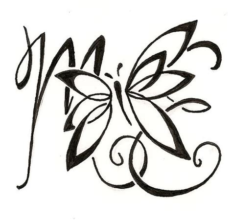 hidden initial tattoo designs lettering kid and children on