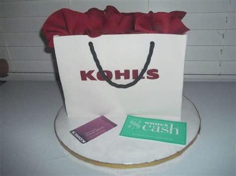 Can You Use Kohl S Cash For Gift Cards - kohls gift bag cake cakecentral com