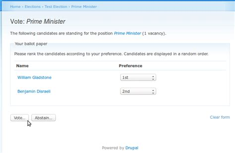 Election Drupal Org E Voting Website Template