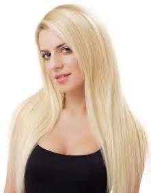 Natural platinum blonde hair