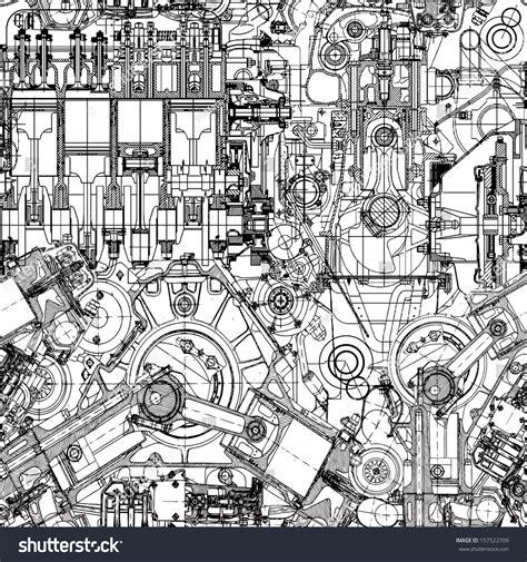 pattern engineering inc drawing engine seamless pattern background seamless stock