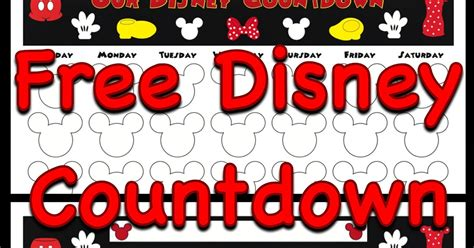 my disney countdown calendars