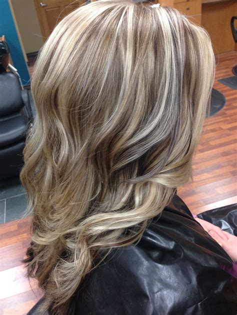 dimension with two low lights dimensional blonde highlights hair pinterest