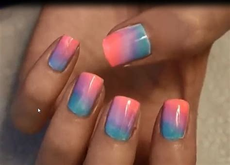 Easiest Nail by Ombre Nails At Home Easiest And Pretty