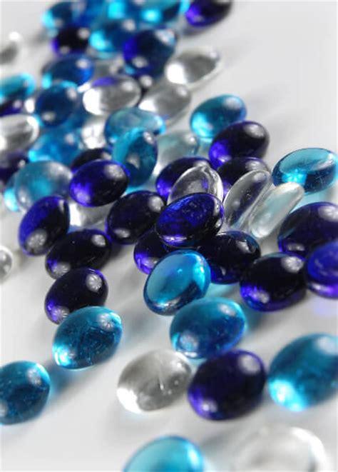 Glass Gems For Vases by Glass Vase Gems Blue Assortment 3 4 Lb Pkg