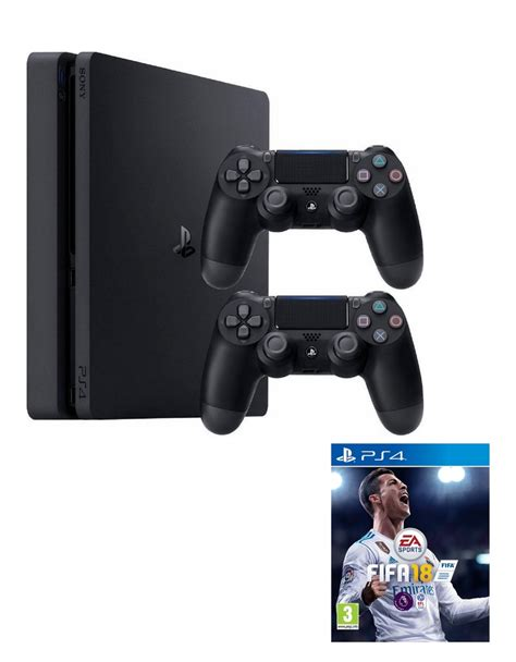 sony gaming console sony ps4 slim 1tb console jet black dualshock 4