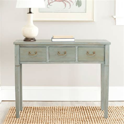 grey console table with drawers sete 3 drawer antiqued grey console table