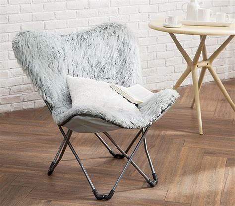 unique fur butterfly dorm chair stylish college furniture
