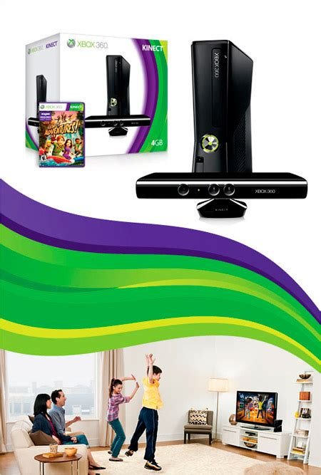 xbox 360 kinect xbox 360 4gb console with kinect unknown