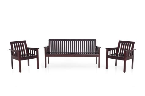 Portland Wooden Sofa Set Without Cushion