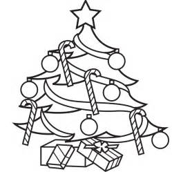Christmas tree decorated drawing coloring book illustrator