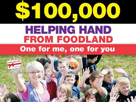 Foodland Gift Card - foodland helping hand win a share of 100 000 majo australian competitions