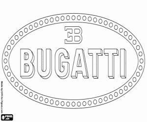 bugatti logo coloring printable game