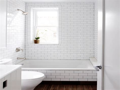 Subway Tile Bathroom Colors by White Subway Tile Bathroom Grout White Subway Tile