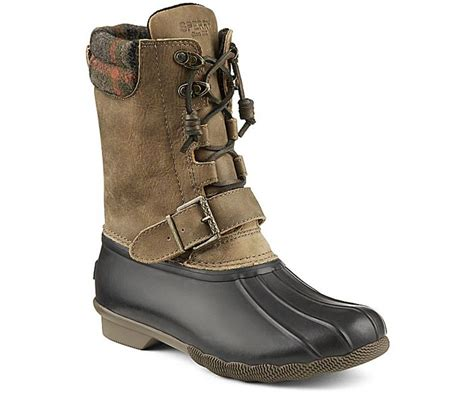sperry s saltwater shearling duck boot rainboots