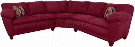 Burgundy Sectional Sofa Burgundy Fabric Modern Sectional Sofa W Wooden Legs