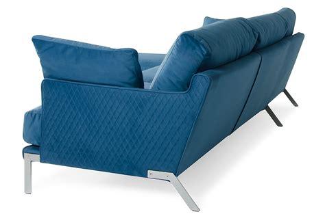 Blue Velvet Sectional Sofa David Achen Modern Blue Velvet Fabric Sectional