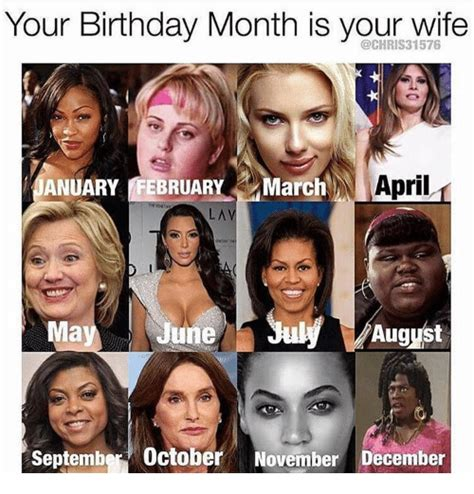 March Birthday Memes - your birthday month is your wife january february march