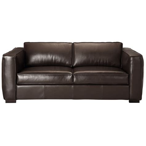 Leather Sofa Bed In Brown Seats 3 Berlin Berlin Brown Leather Sofa Beds
