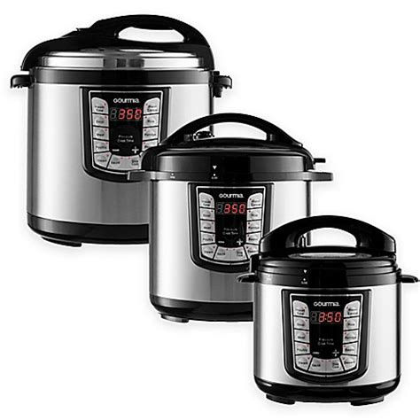 pressure cooker bed bath and beyond gourmia smart pot multifunction programmable pressure