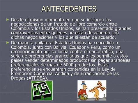 tlc colombia estados unidos y su incidencia en el sector tlc en ee uu y colombia
