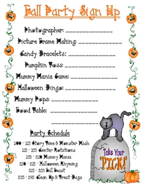 College Letter Sign Up Fall Sign Up Sheet Teacherspayteachers Cookies Room School And