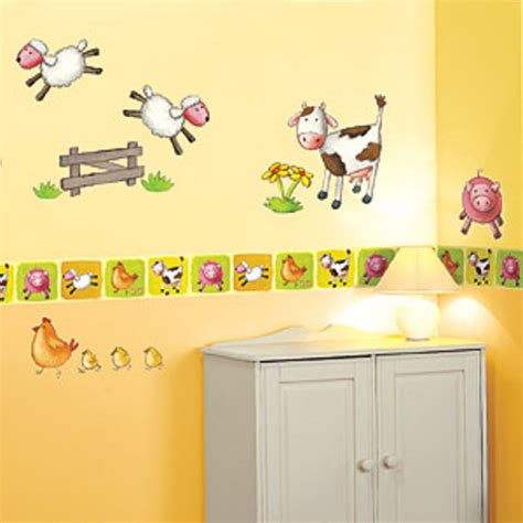 childrens borders for bedrooms uk farm animals wallpaper border sheep pigs dogs cows