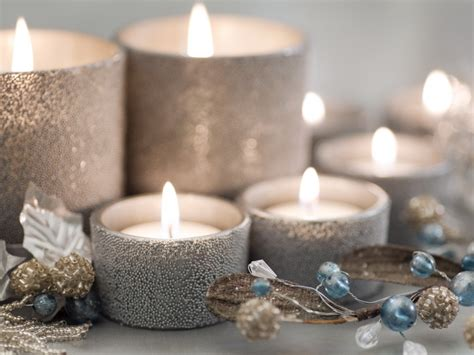 silver christmas candles pictures photos and images for
