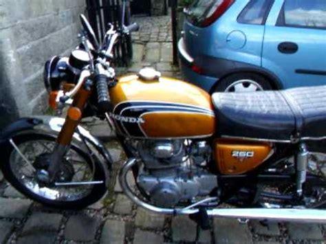 honda cb250 k4 1972 startup cb350