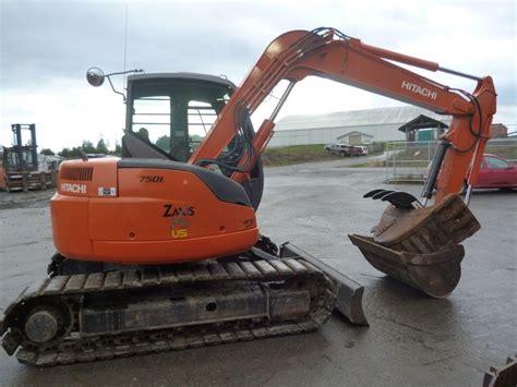 hitachi zero tail swing excavator hitachi zx75 excavator