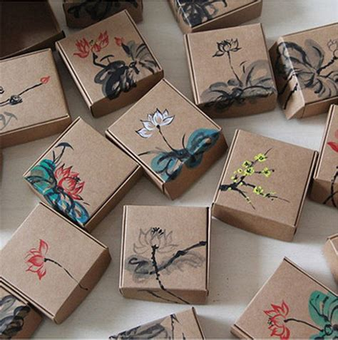 Boxes For Handmade Soap - 12pcs 7 5x7 5x3cm kraft paper box jewelry gift handmade