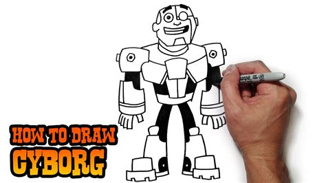 how to draw cyborg teen titans go youtube