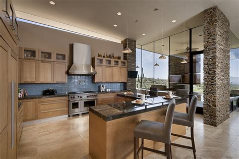 modern traditional kitchen desert home in arizona has spacious interiors and stunning