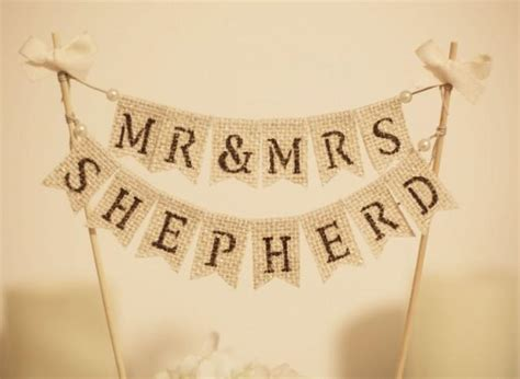 Wedding Banner Mr And Mrs by Mr Mrs Cake Topper Rustic Wedding Cake Topper