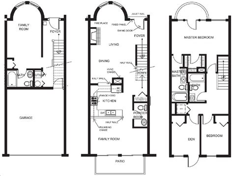 small townhouse plans medieval castle floor plans house plans 9722