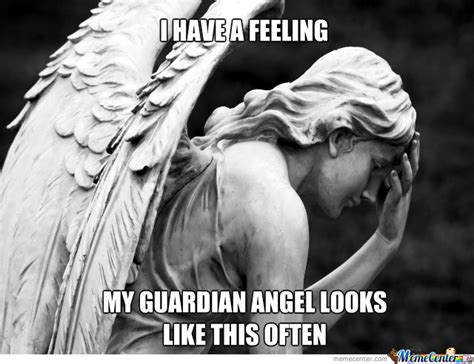 In The Arms Of An Angel Meme - guardian angel facepalm by nobody13 meme center