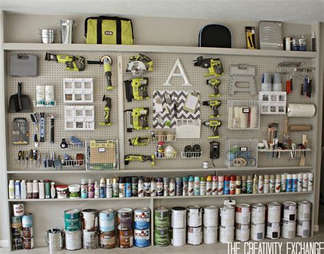 Diy Pegboard | organizing the garage with diy pegboard storage wall