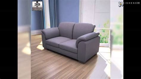 sectional couch clips ikea tidafors two seat sofa 3d model from creativecrash