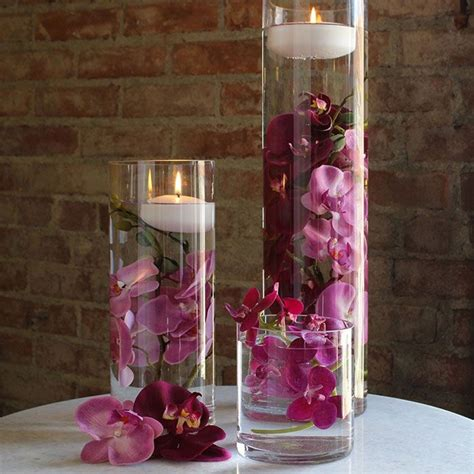 Plastic Vases For Centerpieces by Vases Best 25 Glass Cylinder Vases Ideas On