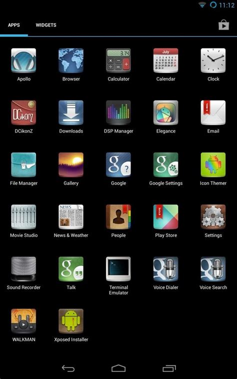 icon themes for android how to customize the android app icons on your nexus 7 tablet with free themes 171 nexus 7